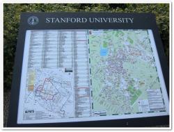 スタンフォード大の案内板