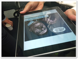 これは確かMarvelのコミックアプリ。超読みやすそうだった