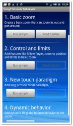 マルチタッチに代わる「One finger zoom」のサンプルアプリをここから起動
