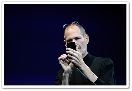 WWDCでのiPhone4発表風景