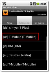 USのT-Mobileに偽装しよう