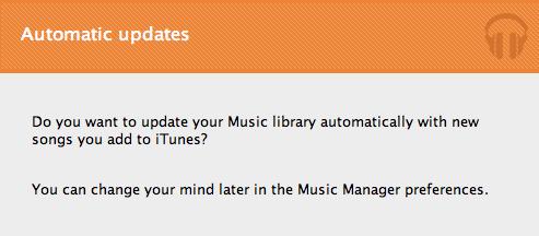 iTunesライブラリに曲が追加されると自動的にアップロードしてくれる